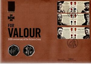 GB 2006 COVER FOR VALOUR WITH 2X 50P COINS