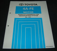 Werkstatthandbuch 4A-FE Motor Toyota Corolla Abgaskontrollsystem Stand 05/1992!