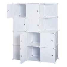 Homcom Armadio Componibile Modulare Con 10 Cubi Armadietto A Scomparti Bianco