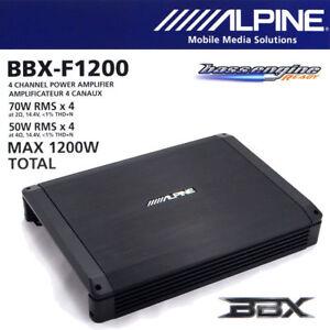 Alpine BBX-F1200 4-Channel A/B Full Range Voice Amplifier 70W x 4 @ 2 ohm 50W x4