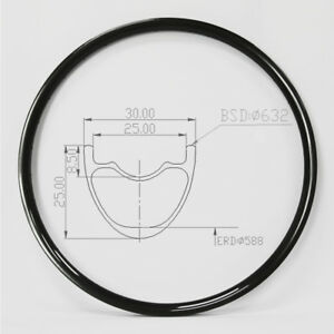 29er Carbon Mountain Bike Rim 30mm XC MTB Rim 28Hole 32Hole Tubeless UD