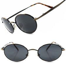 Classic Indie Retro Fashion Bronze Mens Womens Hip Vintage Round Oval Sunglasses