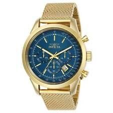 Invicta 25224 Men's Speedway Chronograph Blue Dial Yellow Mesh Bracelet Watch