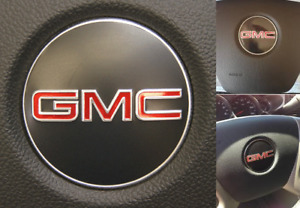 ONE GMC Steering Wheel Emblem logo badge sign SILVERADO GMC Sierra Acadia