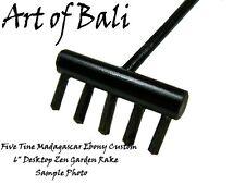 Custom Macassar Ebony Desktop Zen Garden Rake - Art of Bali Original
