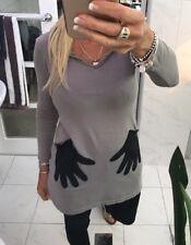 Kate Sylvester Hoodie Dress / Long Top Hands Pockets