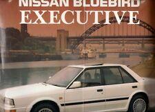 Nissan Bluebird Executive 1988 UK Market Foldout Sales Brochure