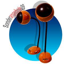 PC aktiv Boxen  RETRO look orange USB Stromversorgung Lautsprecher 3,5mm PCboxen