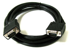 15FT 15 PIN BLACK SVGA VGA ADAPTER Monitor M/M Male To Male Cable CORD FOR PC TV