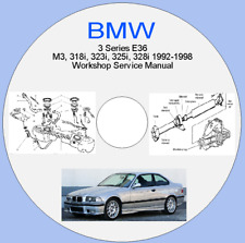 BMW 3 Series E36  M3, 318i, 323i, 325i, 328i 1992-1998  Workshop Service Manual