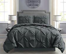 Pintuck Hypoallergenic 8-Piece Bed In A Bag Comforter Set w/ Sheet Set - Gray