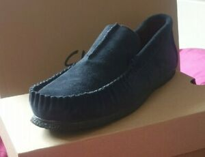 Clarks Mens FreeStep Real Suede Moccasins Warm Comfy Slippers UK Sizes11G EUR 46