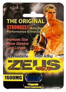 Zeus 1600mg Strongest Male Sexual Performance Enhancement Pill, Original Pills