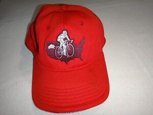 Cycliste Sur Amérique Carte Rouge Balle Chapeau Avec flexfit Arrière
