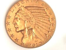 1910-S- U.S. $5.00 Gold Indian Coin High Grade- See Other Gold Coin Listings