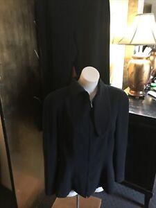 GIORGIO ARMANI Black Label Black Pant Suit 48 Style