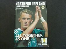 NORTHERN IRELAND VS LUXEMBOURG RARE SOCCER PROGRAMME SEPTEMBER 2012!