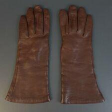 Vintage Bonwit Teller Women's Brown Gloves 100% Cashmere Lined Sz 7