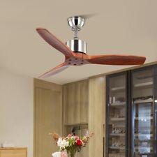 Wooden Remote Control Ceiling Fan 42 Inch Vintage Without Light Bedroom Fan 220v