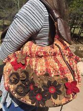 Lockheart Women's Floral Plaid Multicolored Shoulder Hobo Bag #M010210