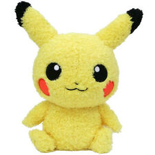 "SALE! Sekiguchi Pokemon Go Moko Moko  9"" Fluffy Pikachu Male Plush Doll Toy"