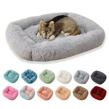 Pet Bed Dog Large Luxury Shag Warm Fluffy Puppy Kitten Fur Donut Cushion Mat Bed