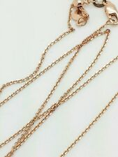 """14k Rose Gold High Polish Cable Link Adjustable Necklace Chain Up to 22"""" .9mm"""