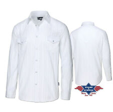 ref ROBIN white chemise country western Stars and Stripes Homme