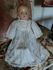 VINTAGE LARGE EFFANBEE DOLL GOOD HEAD CLOTH BODY 26 INCHES 1940-50s