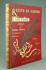 Récits de Guerre L'Invasion 1870-71 Halévy Planches Marchetti Gravures Livre