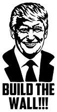 DONALD TRUMP BUILD THE WALL Vinyl Decal Sticker Bumper Wall President Campaign