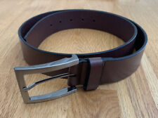 Kenneth Cole Reaction Mens Brown Genuine Leather Belt Size 36