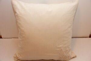 Donna Karan SUNDIAL Emboridered Ivory Decorative Pillow NWT