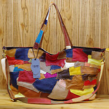 Designer Women's Genuine Leather Multi-color Handbags Satchel Tote Shoulder Bags