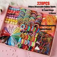 Wholesale 220x Candy Color Girls Hair Clips Rope Ponytail Holder Kids Hairclip