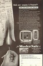 1949 Vintage AD MOSLER SAFE Co.,  Fireproof Burgler Resistant! 080517