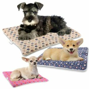 Pet Bed for Dog Cat Crate Mat Soft Warm Pad Liner Home Indoor Outdoor Cute Print