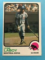 1973 Topps Jose Laboy Card #642 Montreal Expos
