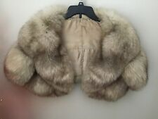 Genuine fur bolero with sleeves small