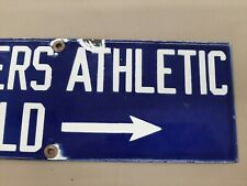 Soldiers Athletic Field Porcelain Sign Army Marines Chicago Bears Sport Football