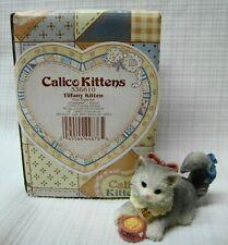 "Enesco Calico Kittens ""Tiffany Kitten"" 1997"