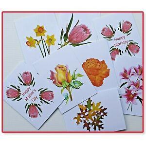 Greeting Cards Flowers - Handmade - Prints of origional watercolour artwork