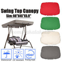 66''x45'' Swing Seat Top Cover 2/3 Seater Canopy Replacement Porch Patio Outdoor