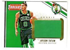 2017-18 Panini Threads JUMBO 5x7 BOX TOPPER ROOKIE RELIC JAYSON TATUM RETAIL