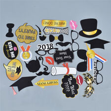 Graduation Photo Booth Props Party Masks Grad Party Accessories Pack of 30