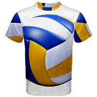 New Volleyball Ball Sublimated Men's Sport Mesh Tee t shirt FREE SHIPPING