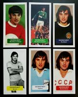 GEORGE BEST Manchester United - 6 INTL. / CURIO Score UK football trade cards