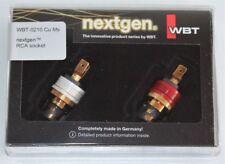 WBT 0210 Cu MS nextgen RCA Cinch Einbaubuchsen Cinchbuchse Neu in OVP