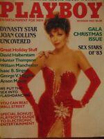 Playboy December 1983 | Joan Collins Terry Nihen Sex Stars A