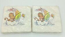 Vintage NIP Care Bear Cousins American Greetings paper napkins 2 packs of 16